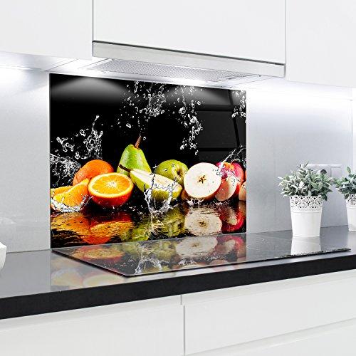 Cuisine Dosseret en verre Imprimé Panneaux résistant à la chaleur en verre trempé 90x 65cm