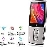 Mnjin Para Viajes y Negocios Dispositivo de traducción de Voz Digital bidireccional, Pantalla táctil capacitiva IPS, grabadora de traducción de Voz Walkie-Talkie Translator