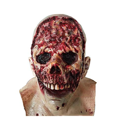 HUA-Party Supplies Halloween Horror Zombie Maske, Zombie Kostüm Party Latex Maske Für Halloween Zombie Terror Maske