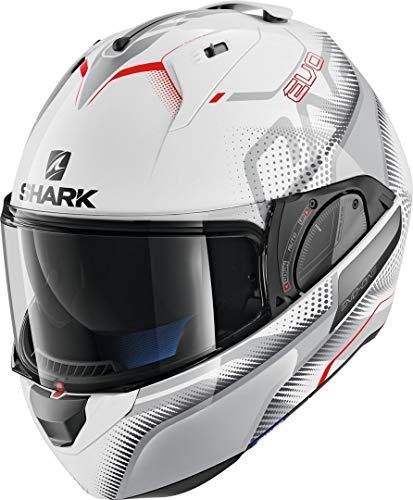 Casco moto Shark EVO-ONE 2 KEENSER WSR, Bianco/Rosso, M