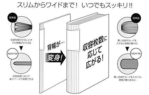 コクヨ名刺ホルダーカードホルダーノビータA430枚600名収容透明メイ-N260T