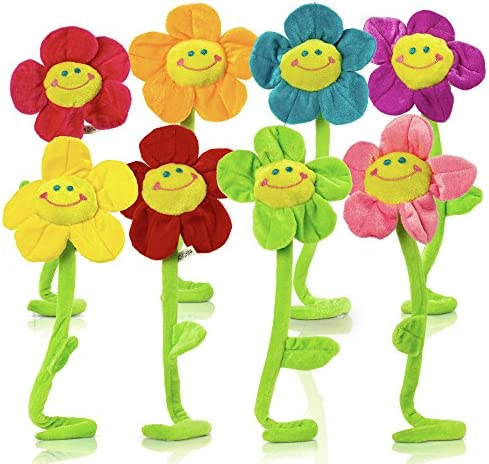 T Play Plush Flower Bendable Stems Colorful Stuffed Flowers Plush Toy Durable Plush Daisy Flower product image