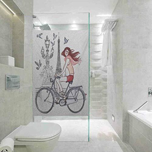 Vinilo decorativo para ventana de privacidad, diseño de la torre Eiffel de...