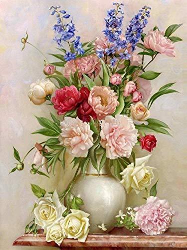 DIY 5D diamant schilderij Rose bloempot Ronde diamant borduurwerk kristal strass borduurwerk schilderij diamant decoratie huis wanddecoratie