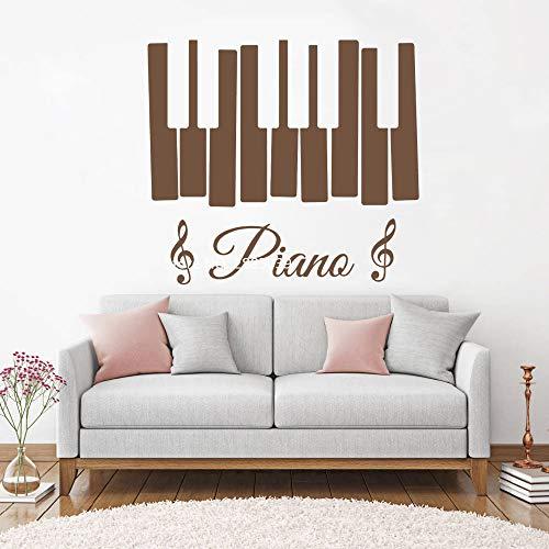 zhuziji Klavier Zeichen Wand Vinyl Aufkleber Musiknoten Wandaufkleber Violinschlüssel Für Schlafzimmer Wohnzimmer Wohnkultur Wandbilder 3D Poster 888-4 M 62 cm x 56 cm