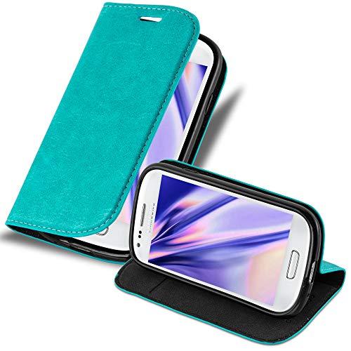 Cadorabo Funda Libro para Samsung Galaxy S3 Mini en Turquesa Petrol - Cubierta Proteccíon con Cierre Magnético, Tarjetero y Función de Suporte - Etui Case Cover Carcasa