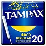 Tampax - Tampons Classiques avec Applicateur en carton x 20 - Régulier