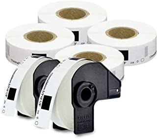 """enKo [6 Rolls/Continuous Labels] Compatible for Brother DK1204 (2/3 x 2-1/8"""")"""
