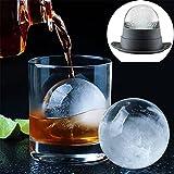 Modulo per hockey su ghiaccio di grandi dimensioni 6 cm Stampo per palline di whisky Accessori per bar Stampo per cocktail in silicone morbido Utensili da cucina-Verde