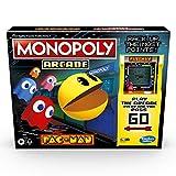 Monopoly Arcade Pac-Man Game; Juego de Mesa Monopoly para niños de 8 años en adelante; Incluye banca y arcada