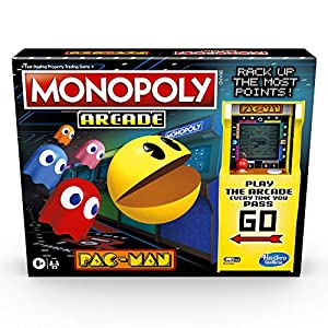 Monopoly Arcade Pac-Man Game; Monopoly Juego de Mesa para niños Mayores de 8 años; Incluye Unidad de banca y arcada