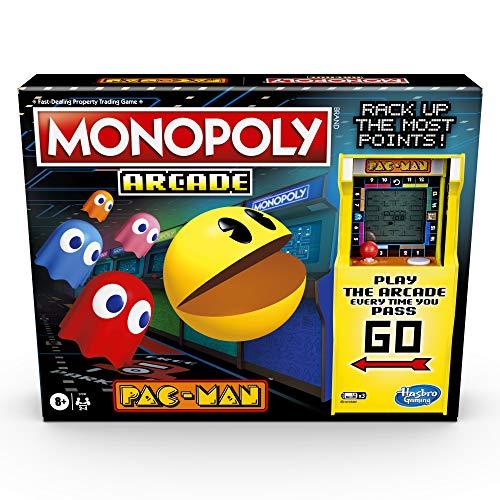 Monopoly Arcade Pac-Man Juego de Mesa Monopoly para niños de 8 años en adelante; Incluye Unidad bancaria y Arcade