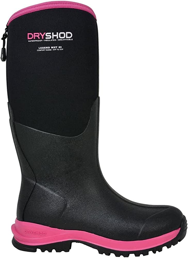 Dryshod Womens Legend Mxt Hi Pull On Boots Mid Calf Low Heel 1-2