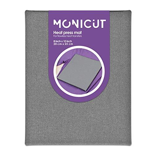 Monicut 8'x10' Heat Press Mat for Cricut Easypress 2/Easypress, Heat Pressing Mat for Craft Vinyl Ironing Insulation Transfer
