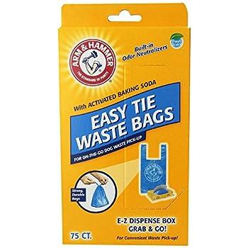 Arm & Hammer 71041 Easy-Tie Waste Bags Blue 150-Pack