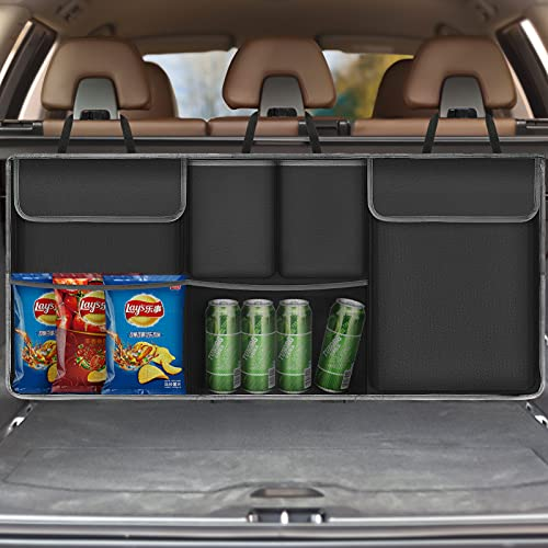 Universale Organizer Auto Bagagliaio Upkey Protezione Sedile Auto Bambini Impermeabile con Multi-Tasca dell'Organizzatore e Pocket Organizer Bambino per Sedile Auto per SUV per auto, 39,3x17,7 ''