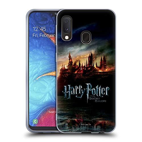 Head Case Designs Offizielle Harry Potter Burg Deathly Hallows VIII Soft Gel Huelle kompatibel mit Samsung Galaxy A20e (2019)