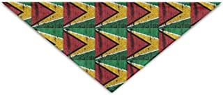 Daisy18 Guyana Flag Grunge Pet Scarf Dog Cat Bandana Collars Triangle Neckerchief
