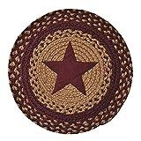 Star Braided Table Mat Burgundy Country Decor