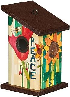 Studio M BH9022 Wren Birdhouse, Peace Everywhere