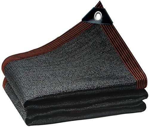 BRFDC Shade Sails Red de Protector Solar agrícola Negro Sunshade Net Sunscreen Neta Perforado Jardín Techo Sombra al Aire Libre Neto Neto Neto 85% Tasa de sombreado (Color: Negro, Tamaño: 6x6m)
