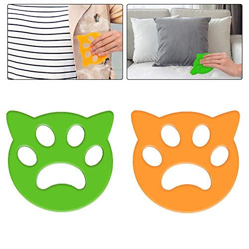 Removedor de pelo para mascotas, 2 unidades, reutilizable, detergente para mascotas, atrapa el pelo, quitapelusas, quitapelos de perro, para ropa de cama, ropa (2 unidades)