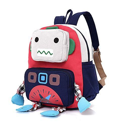 AOCT SHOP-Backpack Kinderrucksack, Kindergarten-Cartoon-Tasche Kinder-Roboter-Rucksack Öko-Baby-Tasche Zoo Neutrale Junge Mädchen