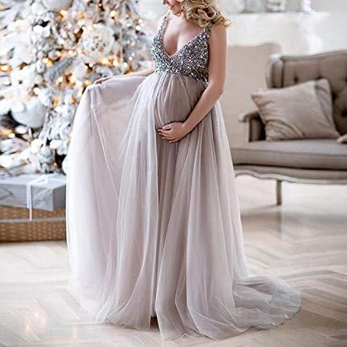 Women Maternity Picture Dresses Maternity Dress Split Front Pregnancy Photography Dress Lace Off Shoulder Long Dress