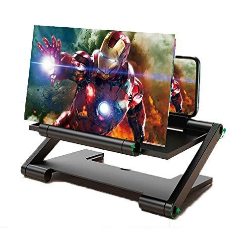 LEOROF 12  Amplificatore Schermo Smartphone HD Proiettore Pieghevole Ingranditore 3D Supporto per Telefono Ingrandimento del Vetro