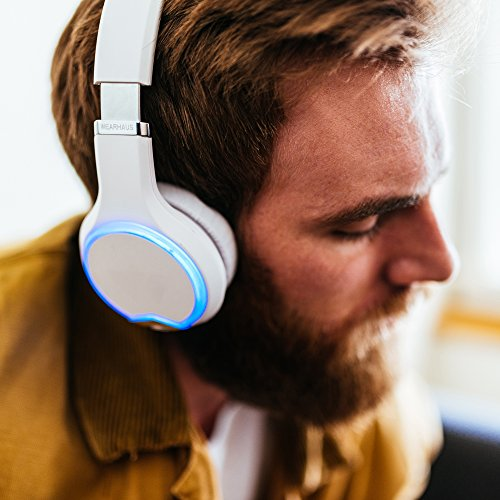 Wearhaus Arc Bluetooth Headphones with Customizable Lights, Touch Controls, and Wireless Audio Sharing – White