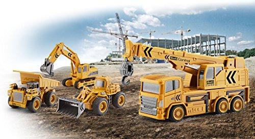 RC Auto kaufen Baufahrzeug Bild 3: Revell Control 23497 RC Baufahrzeug Kranwagen, 40MHz, Akku ferngesteuertes Auto, gelb-orange, 12,5 cm*