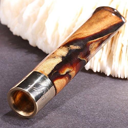 LIULIFE Zigarettenspitze Für Roll Ups Black Coral Mini Ultra Kurz Wiederverwendbar Mit Multi-Filtering Für Männer Und Frauen,Diameter11mm