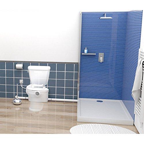 SFA 0015UP Pompe de relevage SANIPRO XR UP | Parfait pour l'aménagement d'une Salle de Bains, évacuera Vos eaux usées et vannes Jusqu'à 5 verticalement ou 100 mètres horizontalement, Blanc
