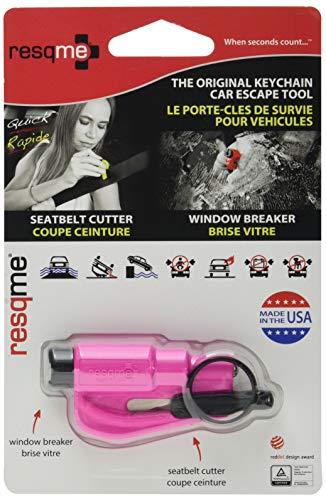 RESQ ME 98730 - Llavero de seguridad 2 en 1, color rosa