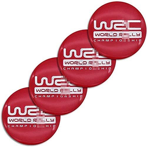 4 Piezas Tapas centrales Plastico Aleación Logo Insignia Coche, para Forest Human Lion XV Impreza WRX WRC Tapacubos Pegatinas