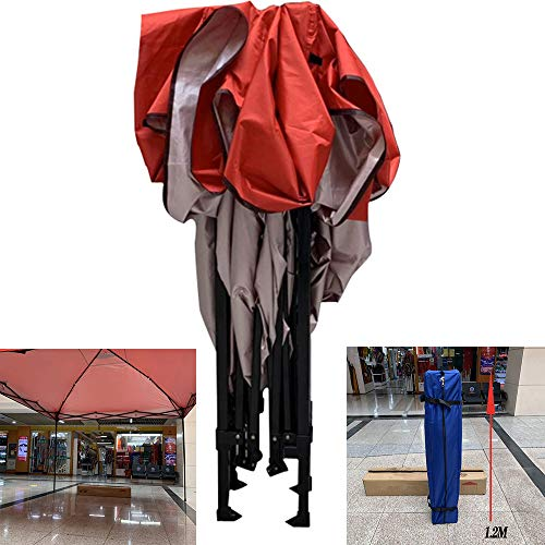 Seizoenen Gazebos Heavy Duty Canopy - 3x3m All Weather Waterproof Pop Up Gazebo - Frame,Beveiliging Pegs & Opbergtas - Rood LDFZ