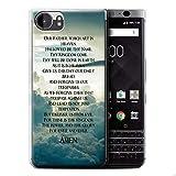 Hülle Für BlackBerry KeyOne/BBB100 Christliche Bibel Vers The Lord's Prayer Design Transparent Dünn Weich Silikon Gel/TPU Schutz Handyhülle Hülle