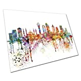 EAPoster Poster Druck Bunte Skyline Wahrzeichen Ankara