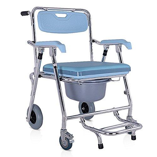 HSRG Bath Chair draaistoel voor de badkamer, met afneembare greep van ijzer en comfortabele toiletstoel, inklapbaar, voor Anziani en discrete