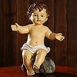 Zenghh Grande nuestro padre en el cielo estatua bebé jesús sabio figurilla navidad santo niño modelo...