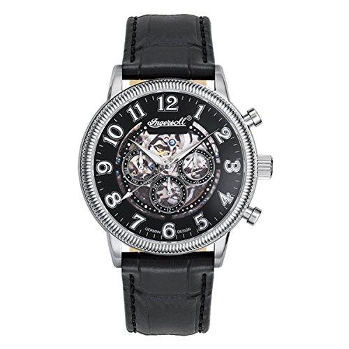 Ingersoll Reloj Analógico para Hombre de Automático con Correa en Cuero IN7218BK