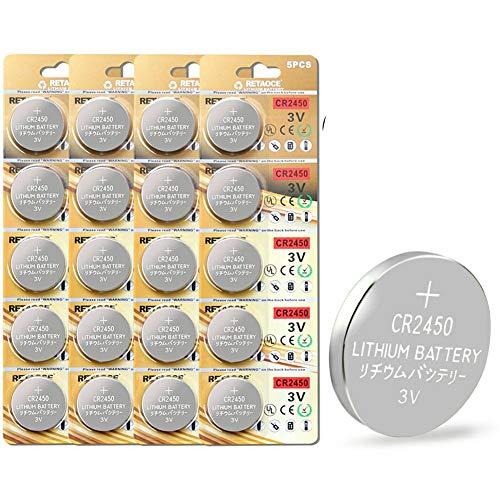 CR2450 Lithium-Knopfzellen, 20 Stück 3V Lithium Knopfzelle Elektro CR 2450 Lithium
