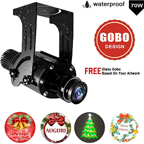 FDYD Logo 70W LED del GOBO IP67 a Prueba de Agua con aduana Libre del GOBO de Cristal para proyectar la Imagen de la compañía de la Tienda Boda del acontecimiento Anuncios,Rotate,NoRC