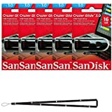 SanDisk Cruzer Glide 16GB (5 Pack) SDCZ600-016G USB 3.0 Flash Drive Jump Drive Pen Drive SDCZ600-016G - Five Pack + Wisla Trust TM Lanyard