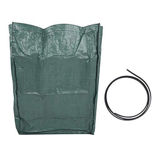 Bolsas para desechos de jardín Saco de césped para Basura al Aire Libre Gran Capacidad Bolsa para Basura Almacenamiento de Juguetes con asa para jardín