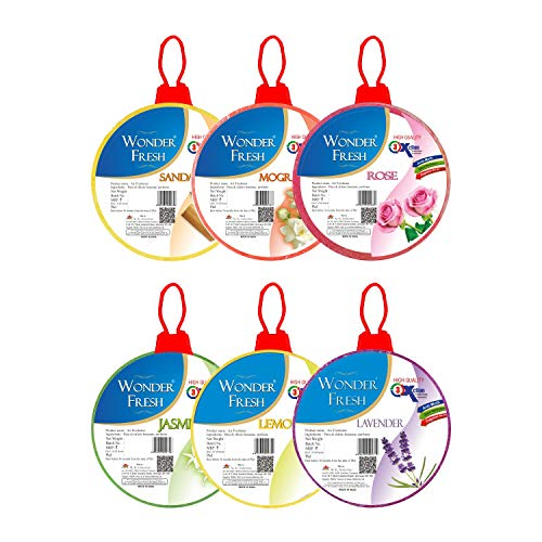 Wonder Fresh Air freshener Flowers block for Bathroom and Toilet 60 gm Each - Pack of 6