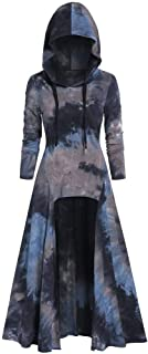 Womens Vintage Cloak Beautyfine Fashion Hooded Plus Size High Low Dress Blouse Tops