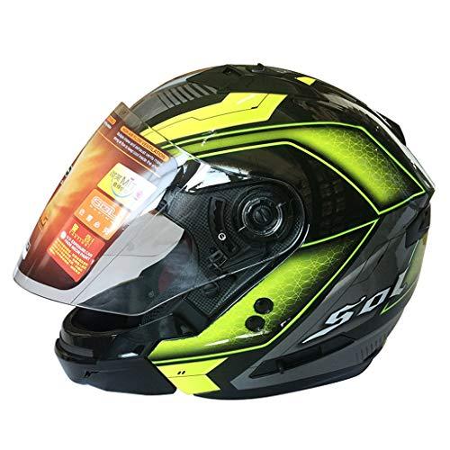 Casque moto hommes et femmes double casque intégral (Couleur : C-L(58-59cm))