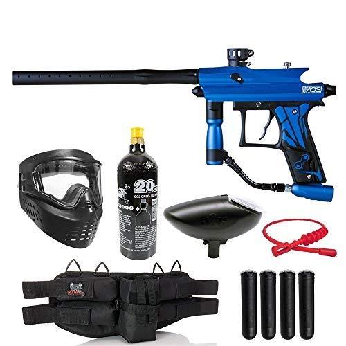 Maddog Azodin KAOS 3 Silver Paintball Gun Marker Starter Package - Blue/Black