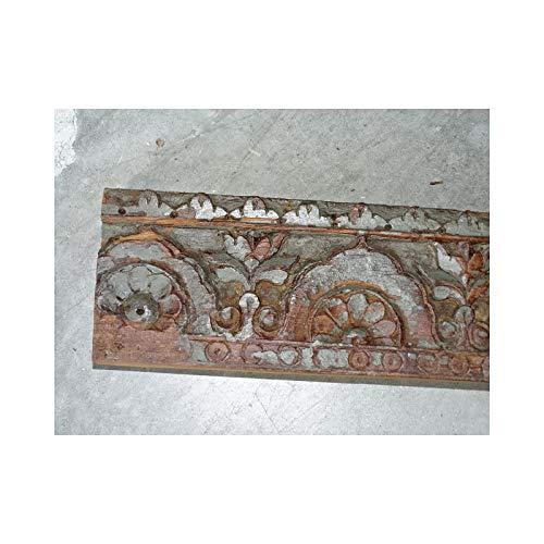 int. d'ailleurs - Dintel de puerta antigua con cenefa de flores - 102x11 cm - AR287